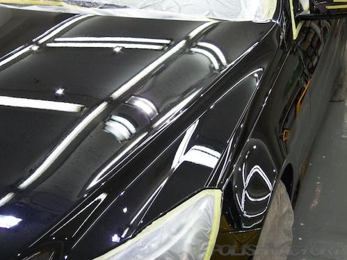 E250カブリオレ_磨きガラスコーティング画像