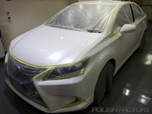 レクサスHS250h_新車磨きガラスコーティング画像