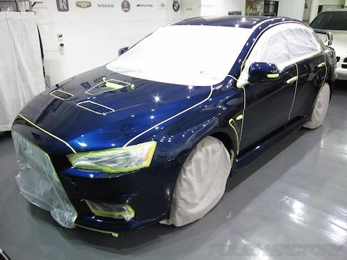 ランエボ_新車ガラスコーティング施工画像