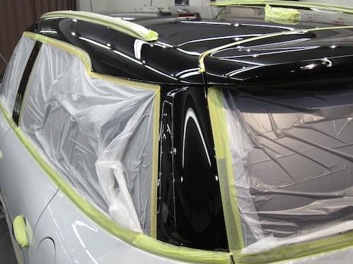 ミニクロスオーバーS_新車磨きガラスコーティング画像
