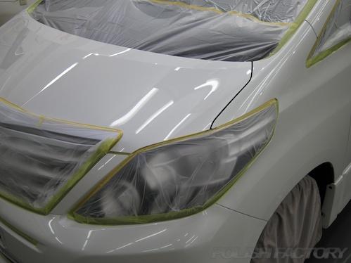 アルファード新車磨きコーティング画像