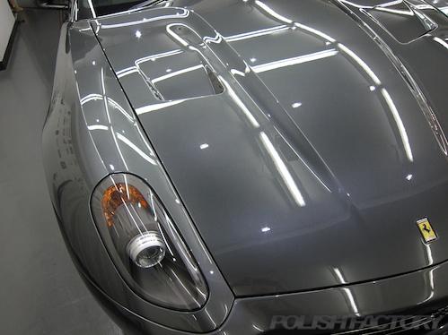 フェラーリ Ferrari ガラスコーティング施工画像